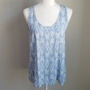 Kaileigh Light Blue and White Tank
